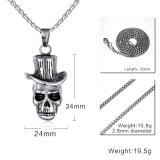 Ювелирных изделий нержавеющей стали личности женщин людей способа фабрики ожерелье шкентеля черепа шлема оптовых Titanium ретро