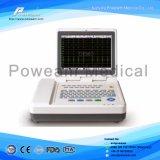 Машина канала ECG портативная пишущая машинка 12 Ce