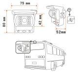 Sistema della macchina fotografica con il video e ventilatore retrovisori di colore dello schermo di 7-Inch Digitahi o farfalla facoltativa
