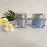 化粧品の包装のための正方形50gラベンダーのアクリルのクリーム色の瓶(PPC-ACJ-077)