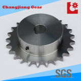 Catena Gear Wheel saldati in acciaio inox Pignone con vite Bore