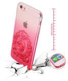 Späteste Steigung prägen transparenten Handy-Kasten der Rose-TPU für iPhone 6/6 Pluszubehör (XSDD-024)