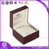 Caixa de jóia de madeira de couro Handmade luxuosa do presente