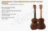Koa Karosserien-Konzertelektrischer Ukulele mit eingebauter Tuner-elektrischer Gitarre