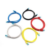 Ethernet Cat 5e UTP Patch Cable Pack de 5 Negro / azul / gris / rojo / amarillo 7 * 0.2mm