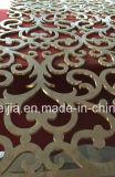 Piatto di alluminio decorativo del piatto di alluminio rivestito di rame con il reticolo inciso