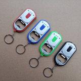 2 in 1 Multifunktionsbeleuchtung-Feststeller-Kette Keychain des bier-Öffner-LED Schlüsselhelle Taschenlampen-Acrylflaschen-Öffner-Licht
