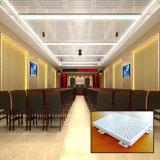 Plafond faux en aluminium décoratif enduit de polyester pour la salle de réunion