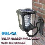 Ligeros al aire libre solares accionada luz del sol del sensor de movimiento de la lámpara del jardín LED impermeabilizan