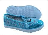 2017 nuevos zapatos de lona del niño con la planta del pie vulcanizada