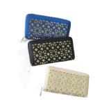 Oz003最新の財布か切り取られたパターンデザイン女性の札入れ