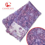 Merletto netto francese nuziale in rilievo di Tulle del fiore di Candlace 3D