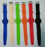 125kHz Wristband di Ajustable di colore del nero del braccialetto di identificazione RFID