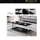 SGSの証明600X600X430の正方形のガラス上のコーヒーテーブル(YF-170070T)