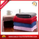 専門の柔らかいアクリル毛布は毛布によって染められた珊瑚の羊毛毛布を個人化した