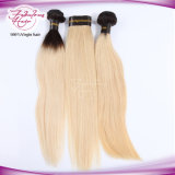 Cabelo humano reto louro de Remy do Virgin superior da cor do preto 613#