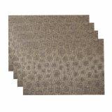 Tablemat & 마루를 위한 최신 자카드 직물 직물 절연제 미끄럼 방지 PVC에 의하여 길쌈되는 Placemat
