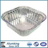 Envase de alimento colorido del rectángulo 200ml del papel de aluminio