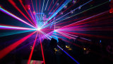Luz laser a todo color del RGB de las pistas de Nj-Lasera 3