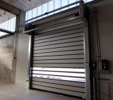 La alta seguridad industrial rueda para arriba la puerta de acero (Hz-RSD024)