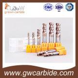 Plano de la flauta del carburo de tungsteno HRC55-60 2 y molino de extremo de bola
