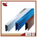 A venda por atacado linear de alumínio do teto das bordas chanfradas para produz aparência lisa Closed