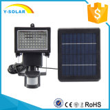 60 LED High Lumen Solar Flood Light com sensor de movimento PIR SL1-17