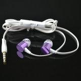 fone de ouvido do metal da em-Orelha de 3.5mm com o baixo Earbuds da ceia do microfone