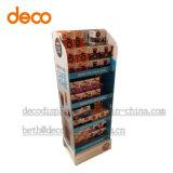 Soporte de visualización de papel de la cartulina del estante de visualización para la venta al por menor del café