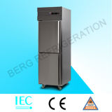 Frigorífico comercial vertical de aço inoxidável de 4 portas com Ce