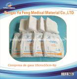 Tampone sterile a gettare 100% della garza del cotone per uso medico