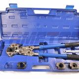 다중층 합성 관 또는 구리 이음쇠를 위한 손 누르기 공구
