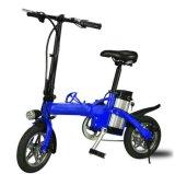 Bici eléctrica plegable portable del fabricante 12-Inch con la lámpara del LED