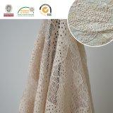 017 Bordado de alta qualidade Tafetá de tecido de renda de poliéster Fancy Melt Polyster Lace for Garments & Home Textiles Ln10048