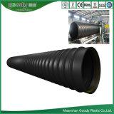 Tubo ondulado reforçado em aço inoxidável HDPE para esgoto