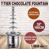 """100cmを浸す7つの層39 """"チョコレート噴水のFoundue機械レストラン"""