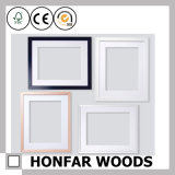 Schwarzer hölzerner Abbildung-Foto-Rahmen für Wand-Dekoration