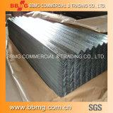 Bobina acanalada de acero galvanizada prepintada acero de la hoja del material para techos del metal