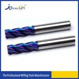 Moinho de extremidade das flautas do carboneto de tungstênio 4 de HRC 65