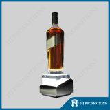 Alta calidad de cristal botella de vino base de la exhibición (HJ-DWL03)