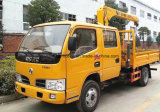 Casilla doble de Dongfeng 2 toneladas de grúa montada carro recto del brazo para la venta