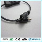 Inline-Ein/Aus-Schalter 12V mit Mannes-/des Weibchen-2.1mm Verbindern für LED-Streifen