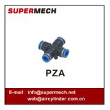 Pza Union Cross en plastique Pipe One Touch Tube Fitting