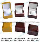 Rectángulo de joyería modificado para requisitos particulares hecho a mano de madera del rectángulo de reloj de la exportación de gama alta
