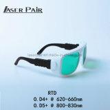 Óculos de proteção do laser de vidros da segurança do laser da RTD para a beleza a mais nova do corpo do laser 635nm do diodo 808nm