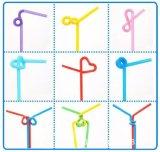 Pajas de beber disponibles del partido Bendy flexible extralargo colorido