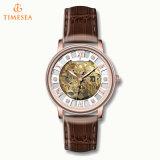 مصنع عالة [جنوين لثر] [منس] ساعة آليّة هيكليّة ساعة رجال 72493