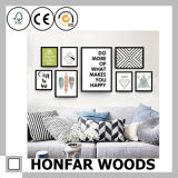Cornice di legno marrone chiaro del manifesto di DIY per la decorazione