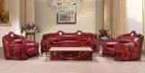 حديثة خشبيّة يعيش غرفة جلد أريكة كلاسيكيّة ([أول-نس207])