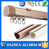 Fácil instalação Curtain Track Rail perfil de extrusão de alumínio com várias cores